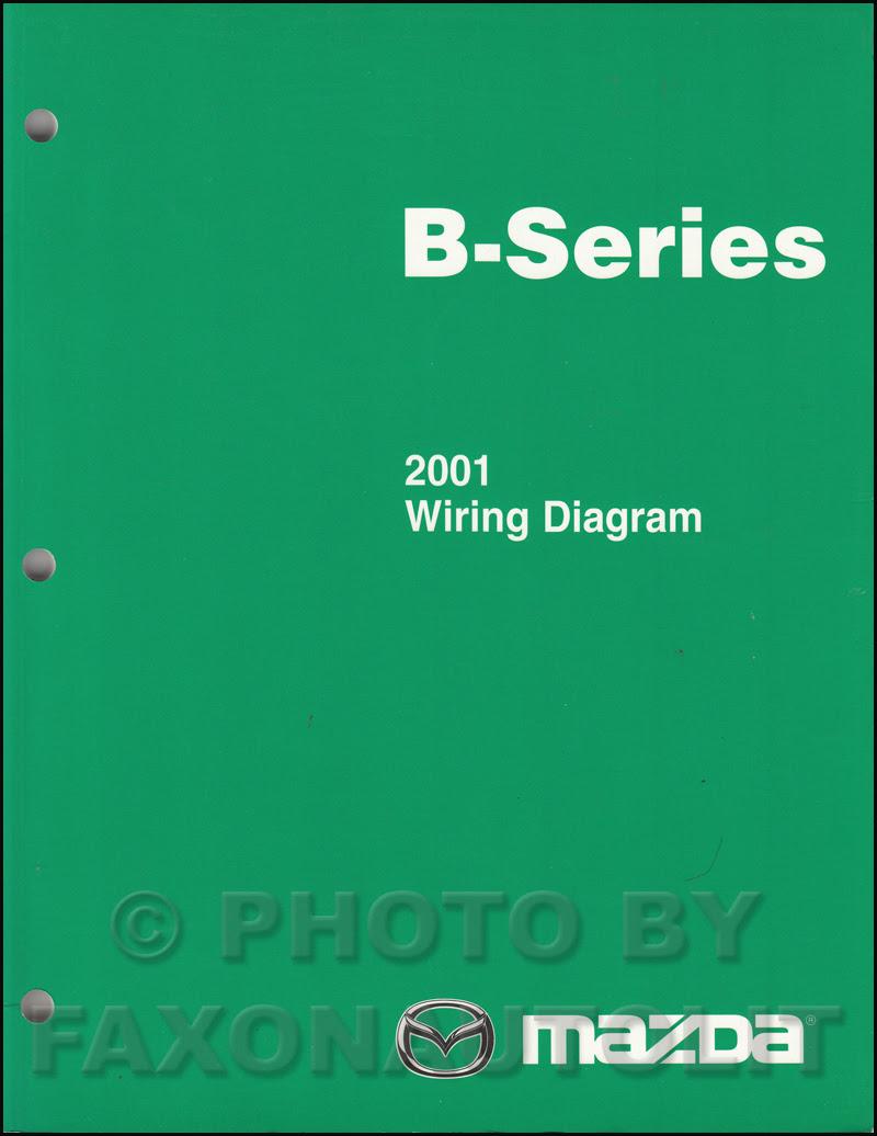2001 Mazda B-Series Pickup Truck Wiring Diagram Manual ...