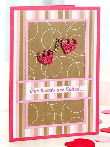 Quilled Valentine card