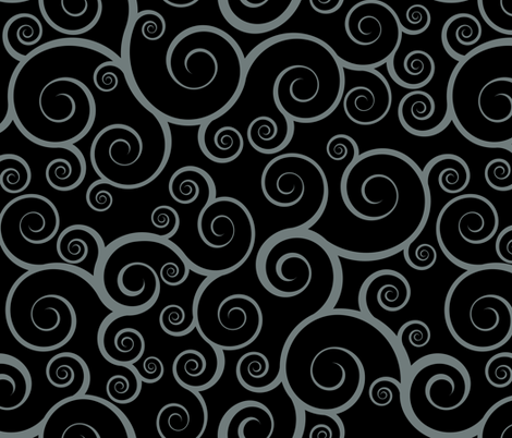 Fancy Swirls - Black