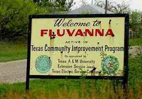 Fluvanna Texas welcome sign