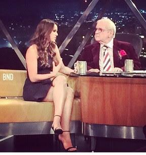 Bruna Marquezine é entrevistada por Jô Soares (Foto: Instagram/ Reprodução)