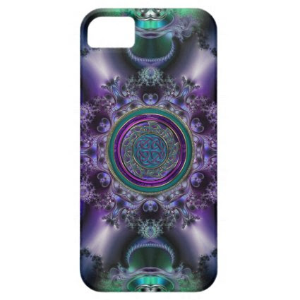 Jade and Amethyst Celtic Fractal Design iPhone 5 Covers