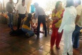 Fernando Moreno en el restaurante Los Naranjos Campestre de Colima. Foto: Tomada de Twitter @ProyectoDiez
