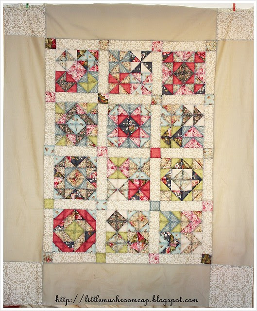HST In Color Order Quilt top