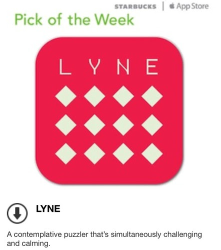 Starbucks iTunes Pick of the Week - LYNE