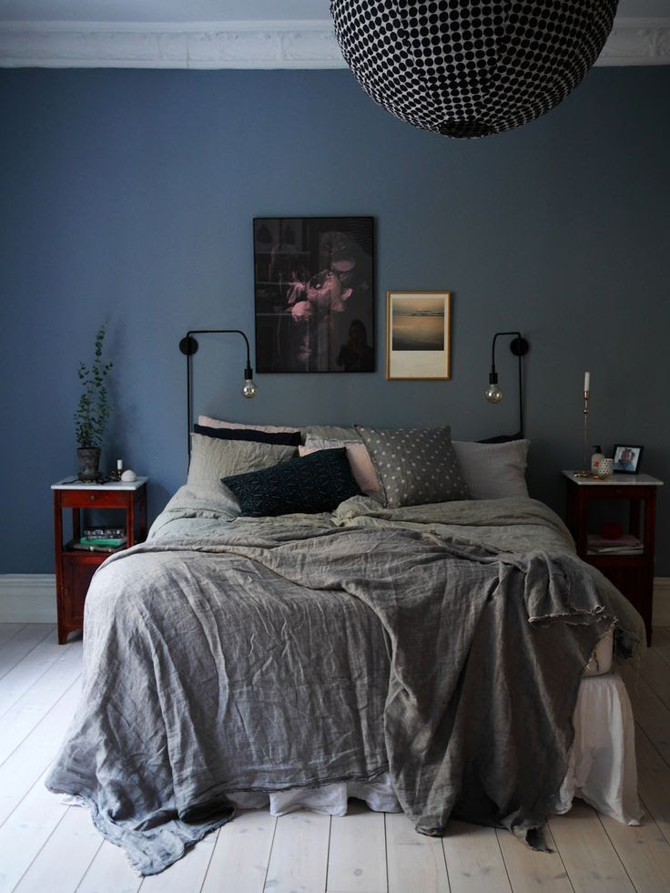 20 Beautiful Blue And Gray Bedroom Designs | Interior God