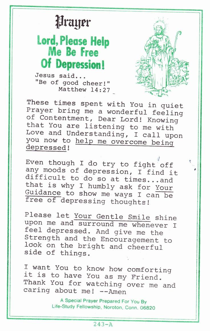 prayer for depression | Strength | Pinterest