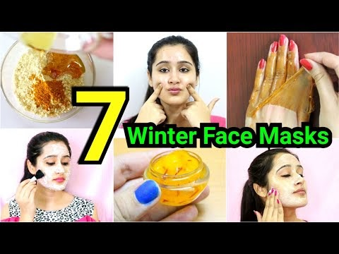 7 Winter HOMEMADE FACE-MASKS for DRY SKIN, DULL SKIN, ANTI - AGING HOME REMEDY