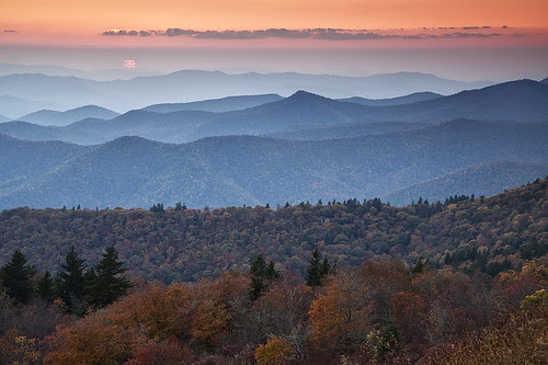 Sunset, Blue Ridge Parkway.