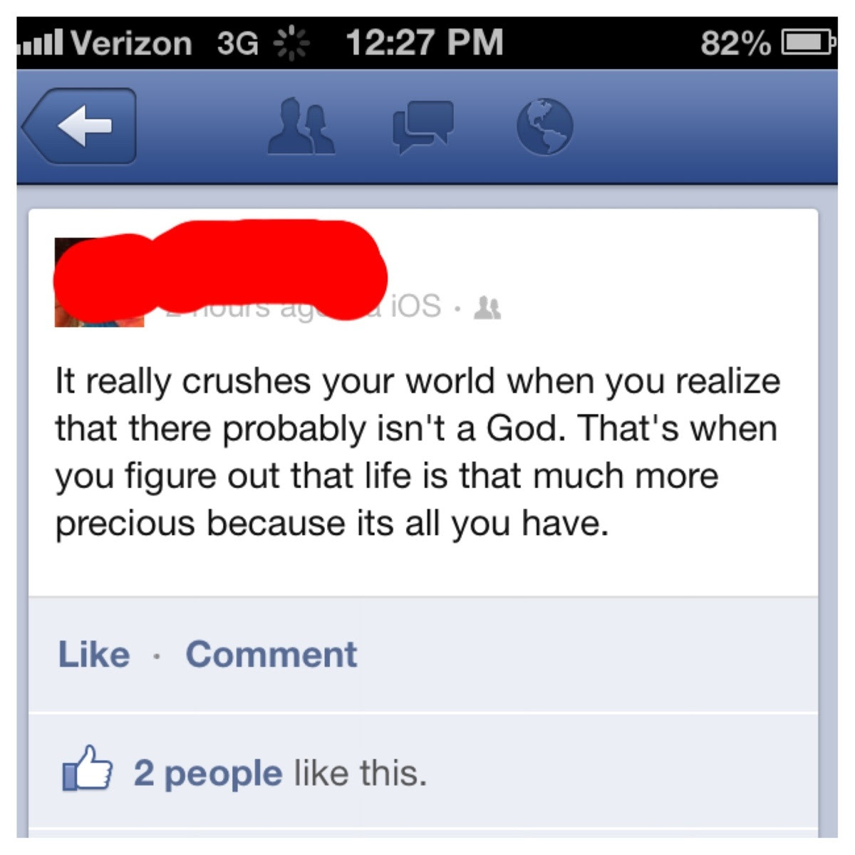I Recently Lost My Faith In God This Status Summed Up My Experience