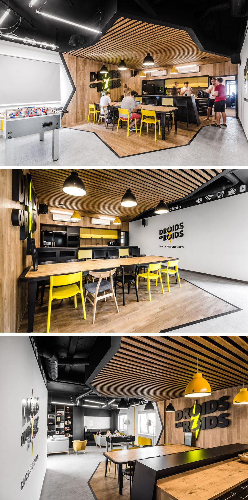 This New Office Interior Uses Wood And Black Frames To Clearly