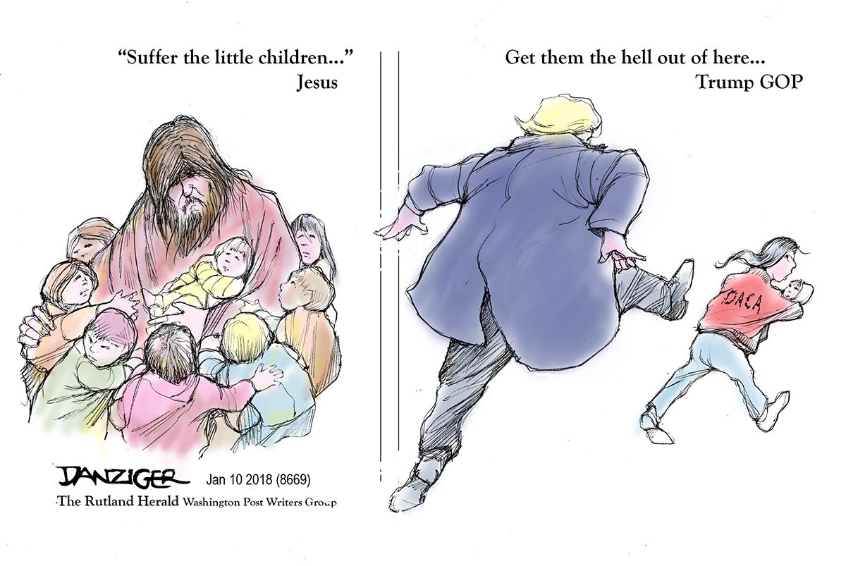 Image result for suffer the little children cartoon