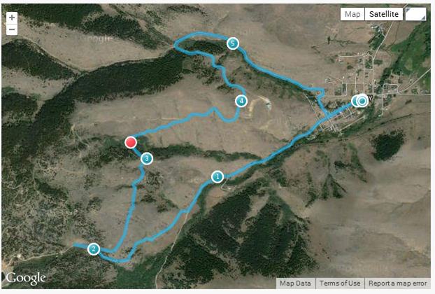 2014 pony trot 10k route