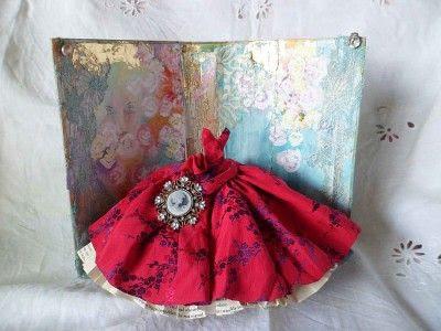 art dress assemblage - Scarlett O'Hara
