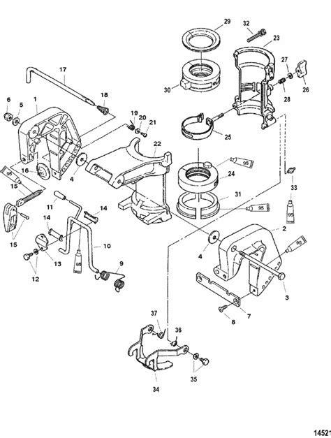 Mercury Marine 6 HP (4-Stroke) Clamp Brackets Parts