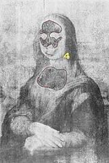 foto em infravermelho do quadro da Monalisa