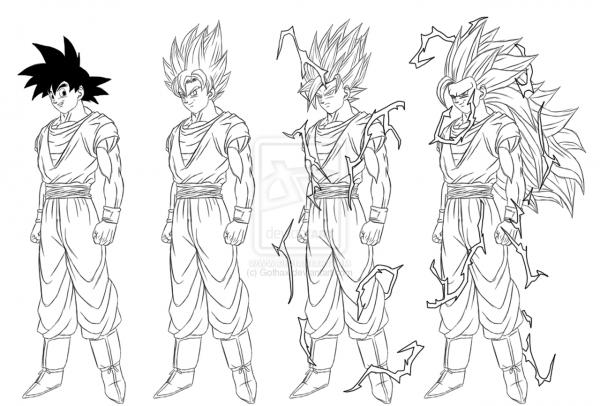 Colorear Goku Goku Ultra Instinto Dominado Para Colorear: Goku Ultra Instinto Para Colorear