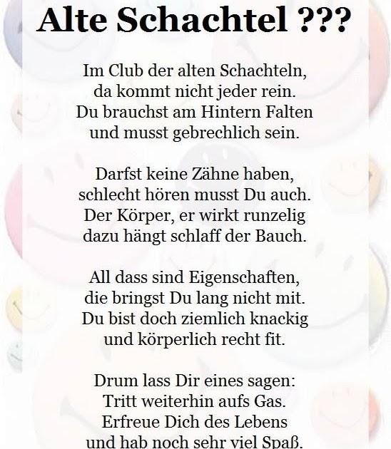 Geburtstagsgedicht Lustig