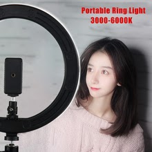 LED Selfie Ring Light Photography Dimmable With Phone Holder USB Plug