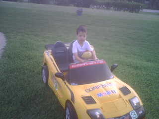 Corvette at Golf Course by Rina BentoSchoolLunches