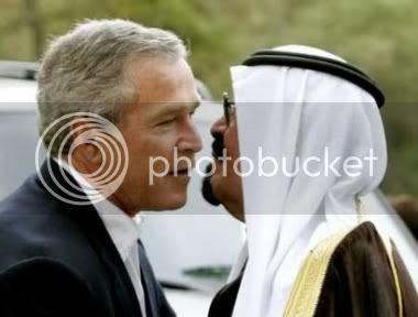 Bush Abdullah kissy kissy