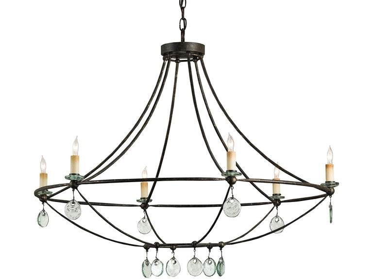 Currey And Company Lamps And Lighting Novella Chandelier 9921 Tin