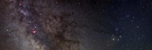 Milky Way: Three Panel Panorama by Nightfly Photography