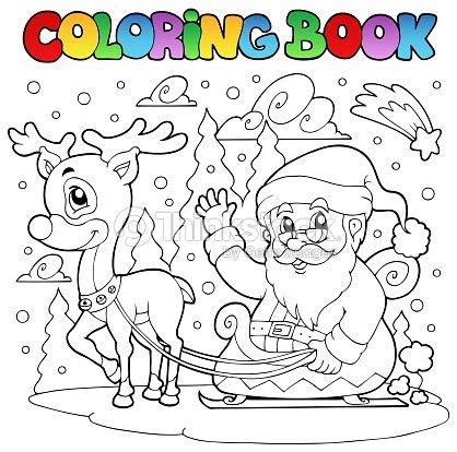 Libro Para Colorear Santa Claus Theme 4 Arte Vectorial Thinkstock
