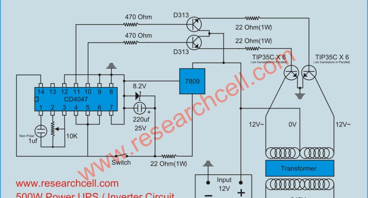 Inverter Circuit Diagram Research Cell Upcomingcarshq Com