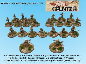 Gruntz Army Deals at Critical Mass Games