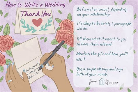 Wedding Thank You Note Wording Examples