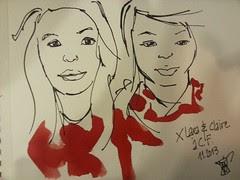Clermont children #4: Lara & Claire.