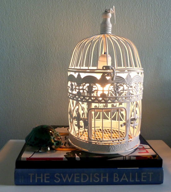 vida e arte design: Gaiola luminária !
