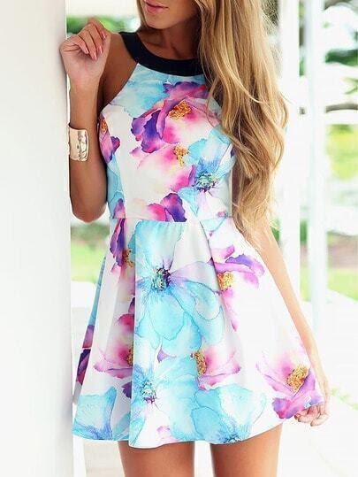 http://www.shein.com/Blue-Strap-Floral-Slim-Flare-Dress-p-213191-cat-1727.html?aff_id=1285