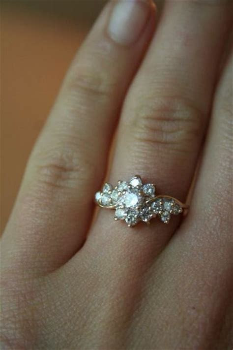 Vintage Floral Tendrils Rings 9 Best Vintage Engagement