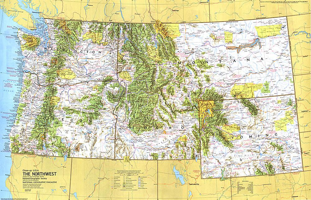 Northwestern united states; Northwest U.S.; Pacific ...