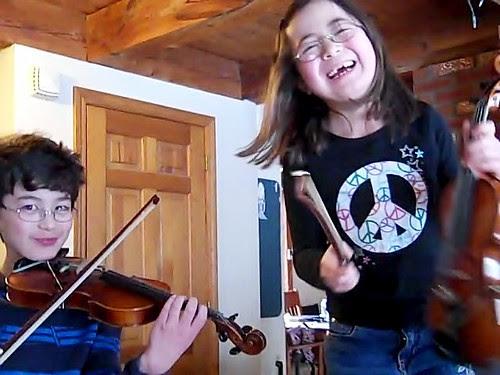 Happy Violinists