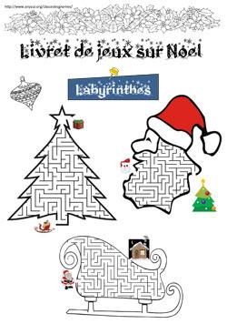 Livret de jeux sur Noël