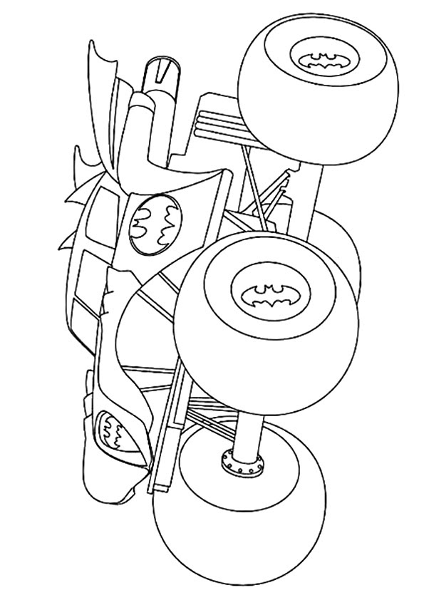 Simple Monster Truck Coloring Pages Printable Coloring Pages