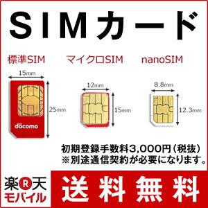 SIMカード(事務手数料)【楽天モバイル】 【送料無料】【SIMフリー】【格安スマホ】