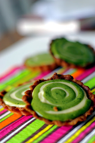 Matcha Cream Cheese Tarts