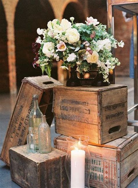 20 Great Ideas To Use Wooden Crates At Rustic Weddings