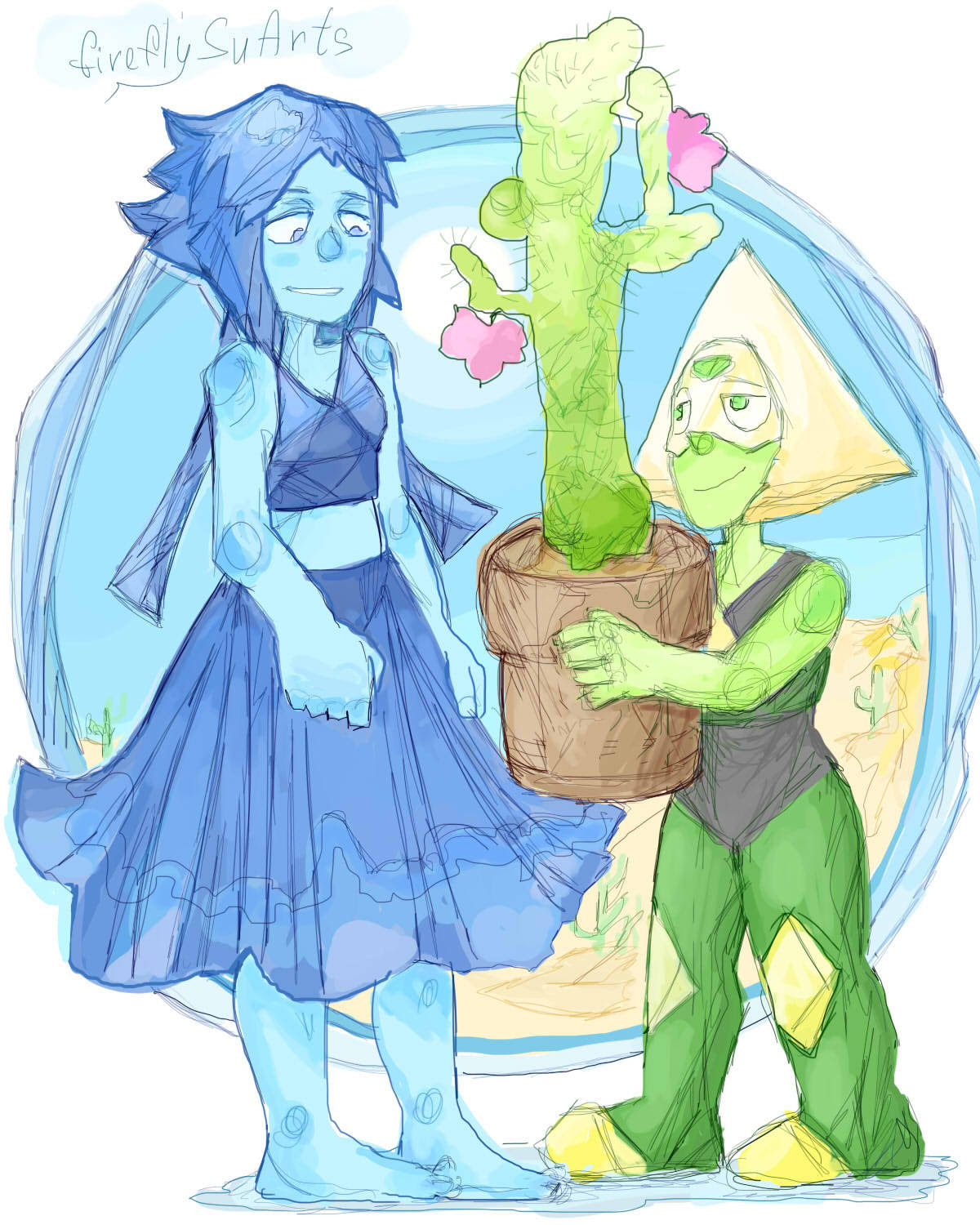 - Lapis,this is for you. - Heh,T-t-thanks…
