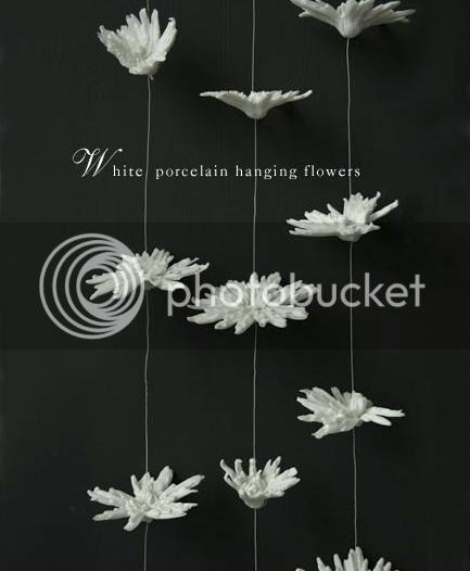porcelain hanging flowers 2