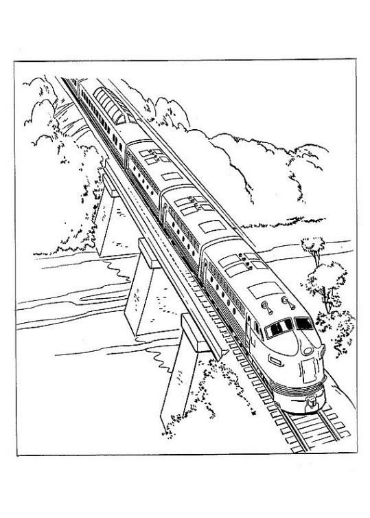 ausmalbild ice zug  cartoonbild
