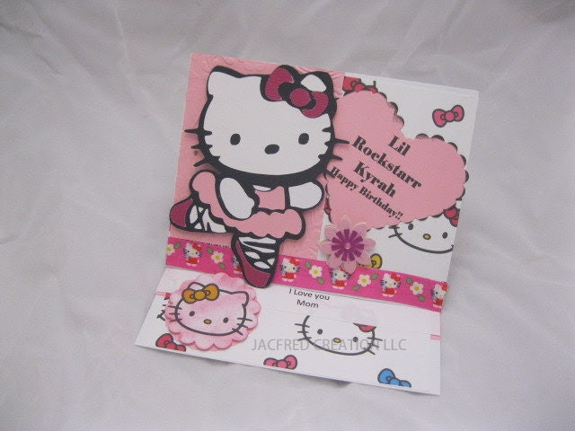 Hello Kitty Birthday Card