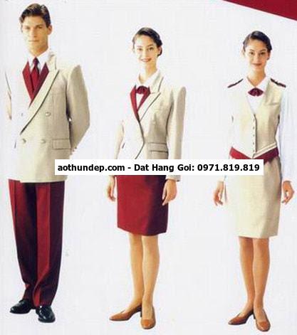 đồng phục áo dài lễ tân khách sạn