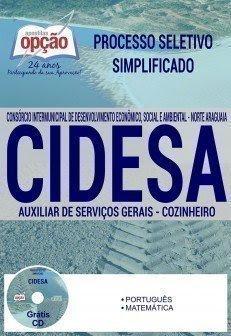 Apostila da CIDESA Norte Araguaia AUXILIAR DE SERVIÇOS GERAIS E COZINHEIRO