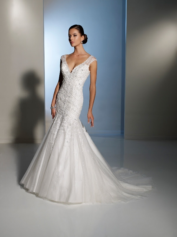 wedding gown by Sophia Tolli