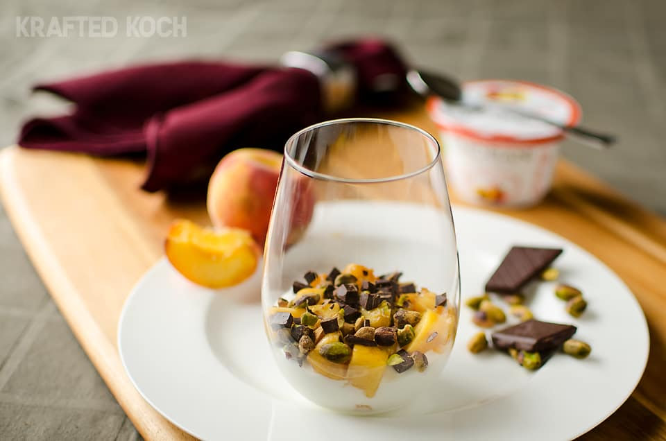 Peach-Yogurt-Parfait-with-Pistachios-and-Dark-Chocolate-kraftedkoch.com